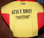 GUNS N' ROSES YELLOW SHIRT