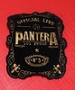 PATCH PANTERA OFFICIAL LIVE