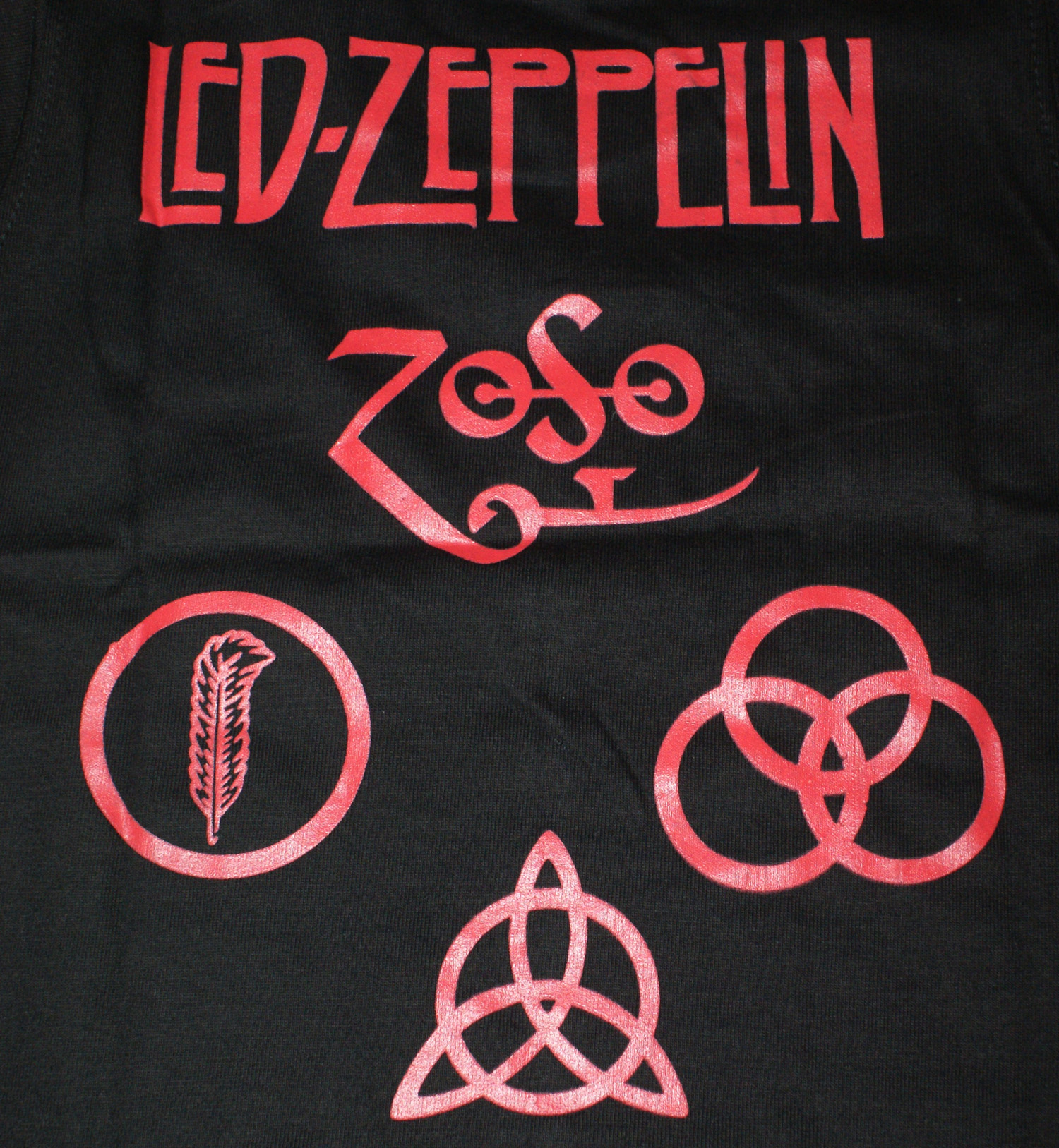 Led Zeppelin Zoso T Shirt Rockillos