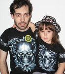 SET OF T-SHIRT DAD-ROCKILL@ SKULL GLOW