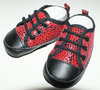 RED SNAKE SKIN SHOES