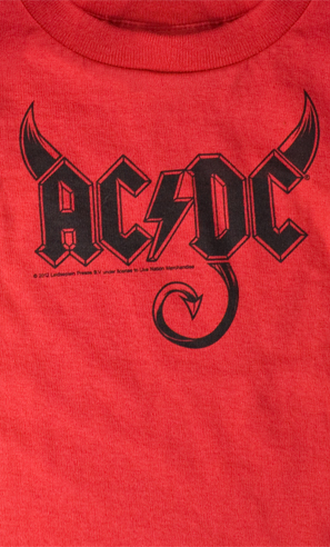 ac dc horns t shirt rockillos. Black Bedroom Furniture Sets. Home Design Ideas