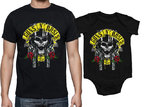 PACK CAMISETA-BODY PAPA-ROCKILL@ GUNS SKULL