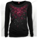 CAMISETA BLOOD ROSES MANGA LARGA