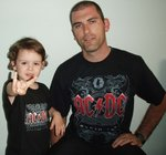 PACK CAMISETAS AC/DC BLACK ICE PAPA Y ROCKILL@