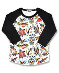 CAMISETA RAGLAN TATTO SHOPPE