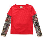 CAMISETA ROJA MANGAS TATTOO
