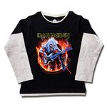 CAMISETA SKATER IRON MAIDEN FLAME